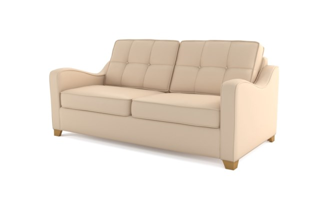 Wingfield 3 seater button back - ivory