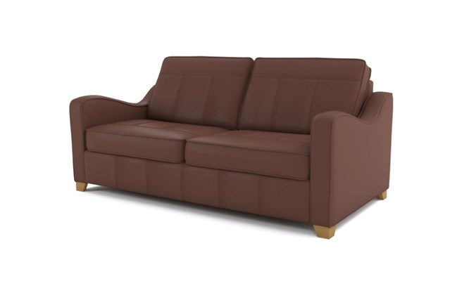 Wingfield 3 seater plain back - brown