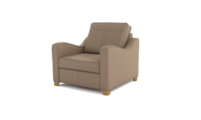 Wingfield arm chair plain back - beige