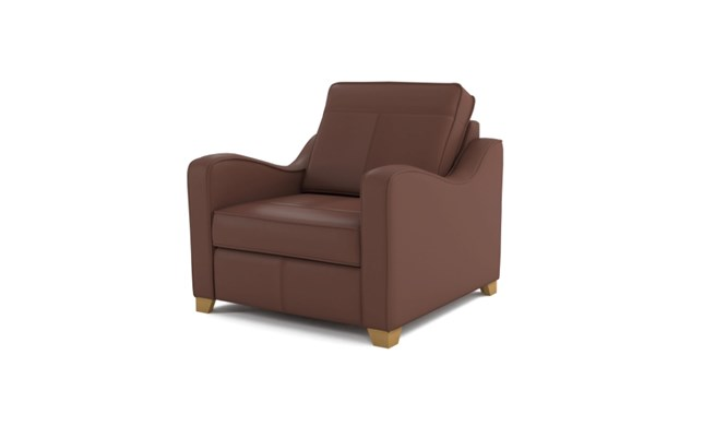 Wingfield arm chair plain back - brown
