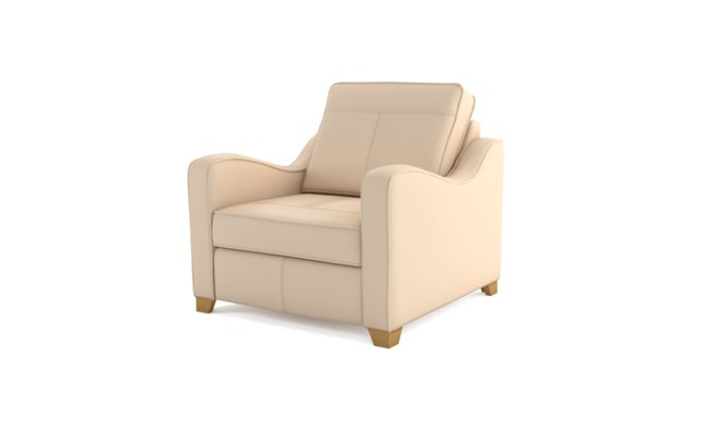Wingfield arm chair plain back - ivory