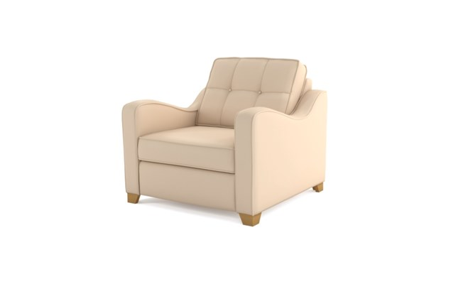 Wingfield arm chair button back - ivory