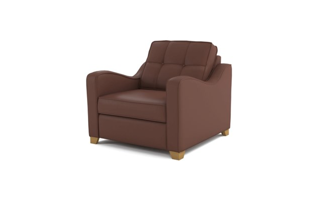 Wingfield arm chair button back - brown