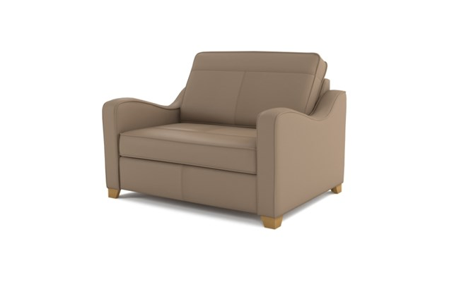 Wingfield chair bed plain back - beige