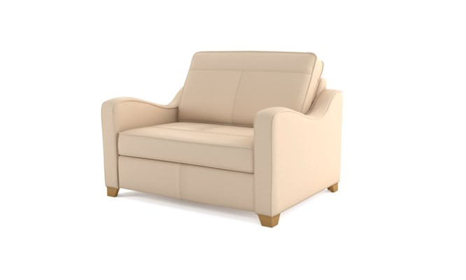 Wingfield chair bed plain back - ivory