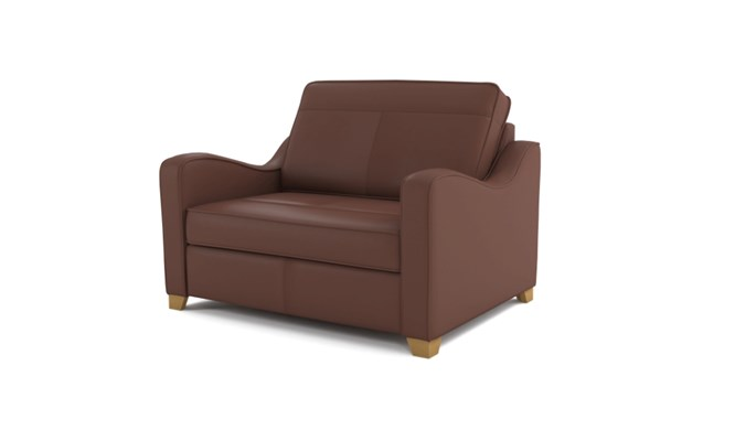 Wingfield chair bed plain back - brown