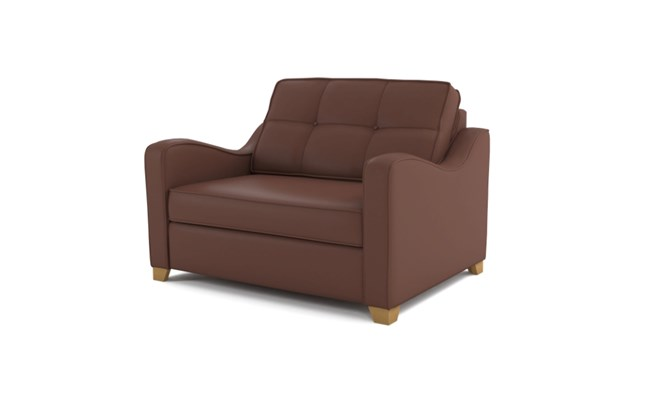 Wingfield chair bed  button back - brown