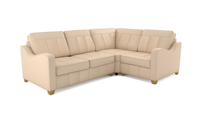 Wingfield corner sofa plain back - ivory
