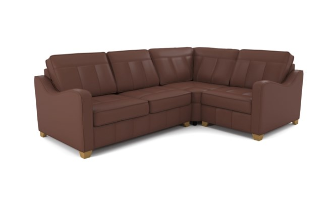 Wingfield corner sofa plain back - brown