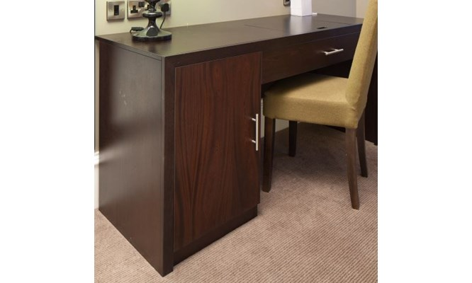 Lawrence desk with door and drawer