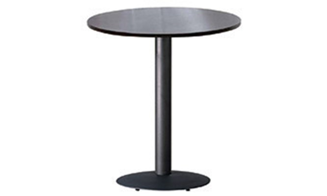 Table A - round black cast base