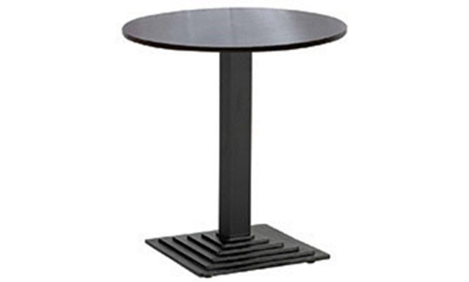 Table C - square stepped black cast base