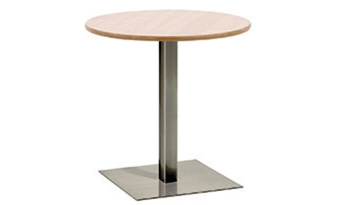 Table D - square brushed steel base