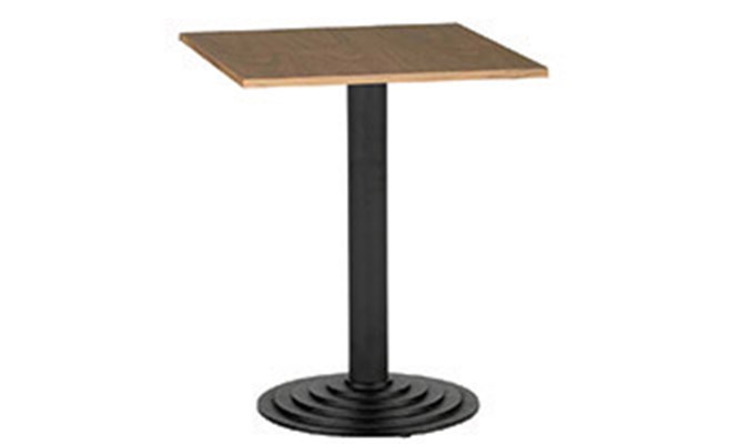 Table E - round stepped black cast base