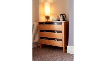 Bespoke dual-finish chest of drawers