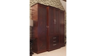 Bespoke walnut wardrobe