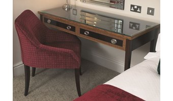 Bespoke dual-finish bedroom desk