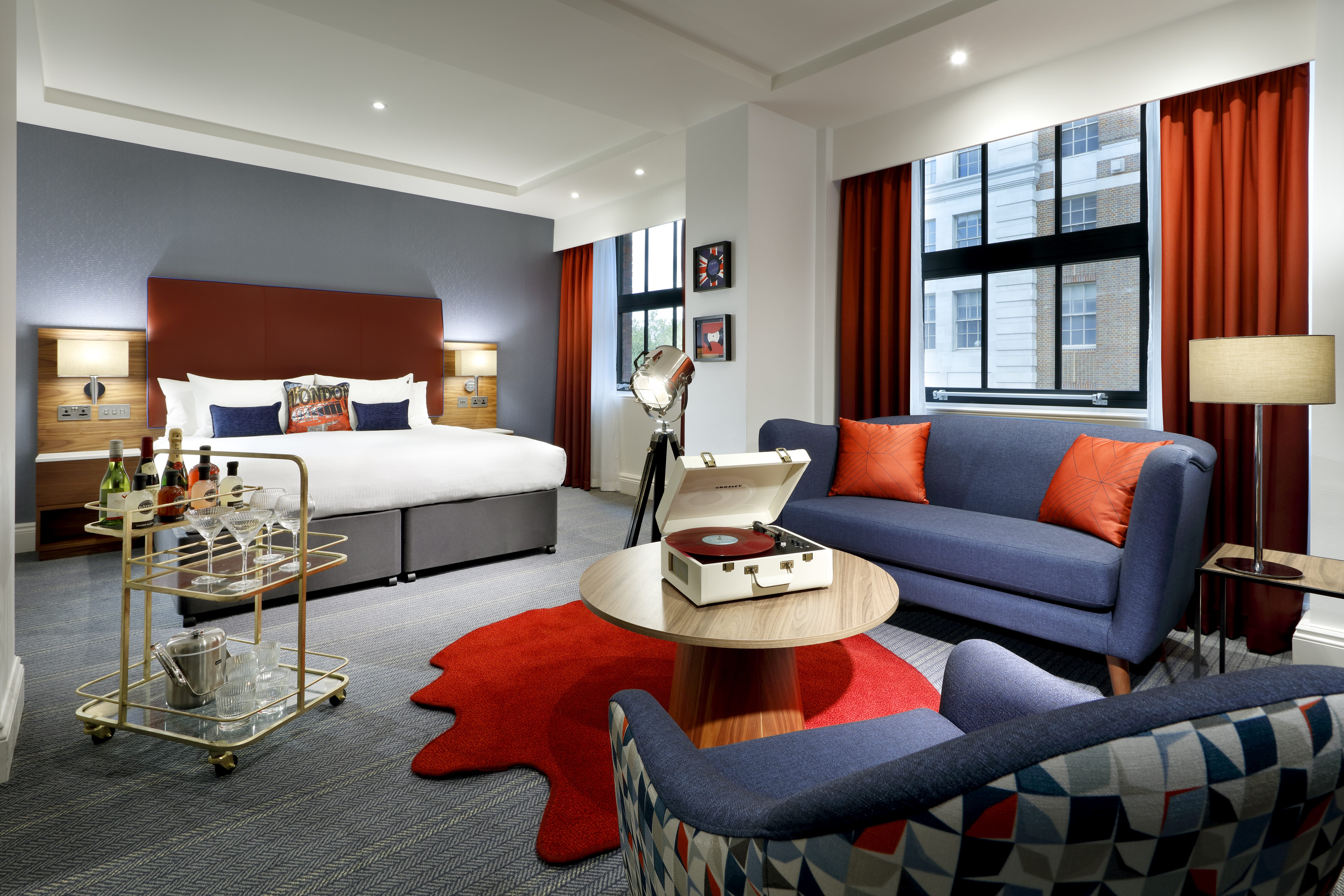 Hard Rock hotel bedroom with Curtis furniture